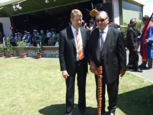 Kiingi Tuheitia with Hon David Cunliffe