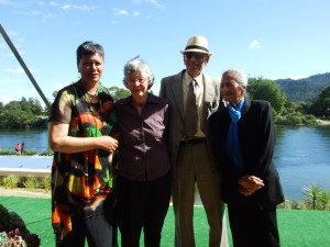 Ngaire Lasika, Deidre and Dr Ranginui Walker, 'Aunty Mere